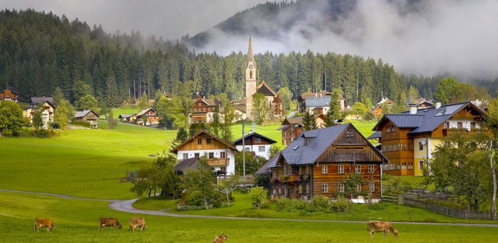 austria-tourism-village-wallpaper